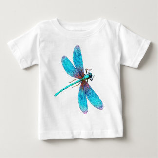 Beautiful Bright Blue Turquoise Dragonfly Baby T-Shirt