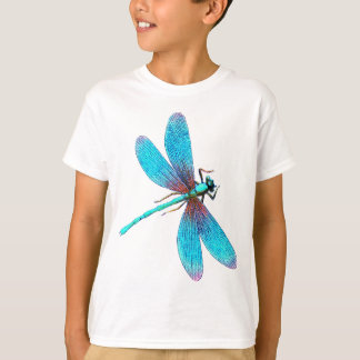 Beautiful Bright Blue Turquoise Dragonfly T-Shirt
