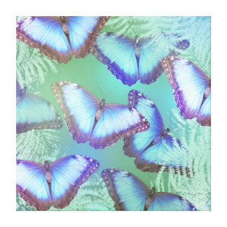 Beautiful bright butterflies canvas print