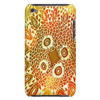 Beautiful Bright Colorful Zen Doodle Bokeh Pattern Barely There iPod Cases