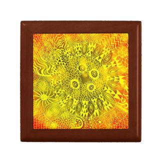 Beautiful Bright Colorful Zen Doodle Bokeh Pattern Gift Box