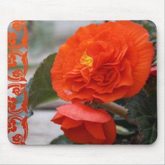Beautiful Bright Orange Red Flowers Mousepad