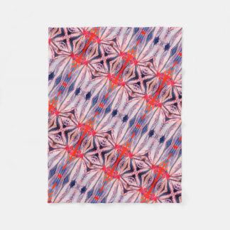 beautiful bright pattern fleece blanket
