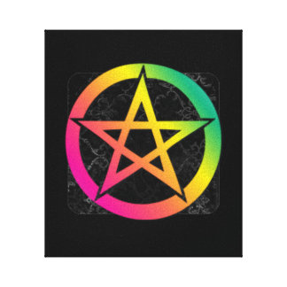 Beautiful bright pentacle stretched canvas prints