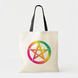 Beautiful bright pentacle tote bag
