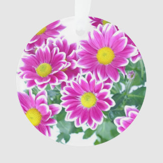 Beautiful Bright Pink Summer Flowers Ornament