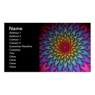 Beautiful Bright Rainbow Flower Business Cards
