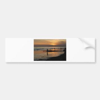 Beautiful Brighton Sunet Beach Bumper Sticker