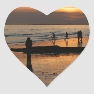 Beautiful Brighton Sunet Beach Heart Sticker