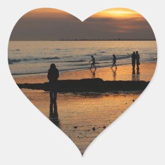Beautiful Brighton Sunet Beach Heart Sticker