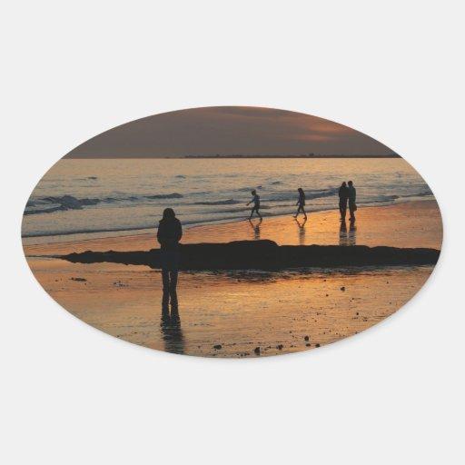 Beautiful Brighton Sunet Beach Stickers