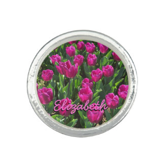 Beautiful Brilliant Pink Tulips Personalized