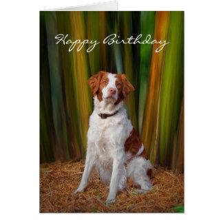 Beautiful Brittany Birthday Card