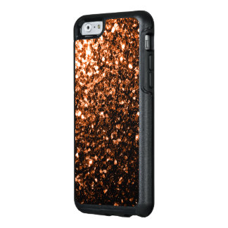 Beautiful Bronze Orange Brown glitters sparkles OtterBox iPhone 6/6s Case