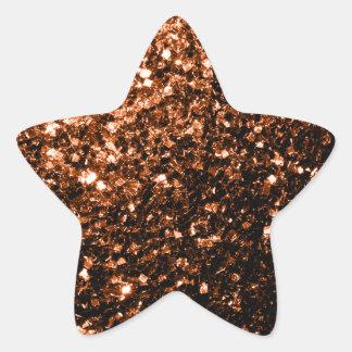 Beautiful Bronze Orange Brown glitters sparkles Star Sticker