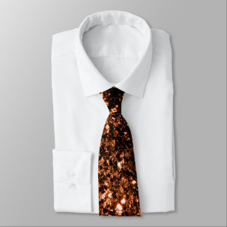 Beautiful Bronze Orange Brown glitters sparkles Tie