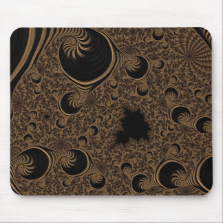 Beautiful Brown Cream Tone Fractal Mouse Pad