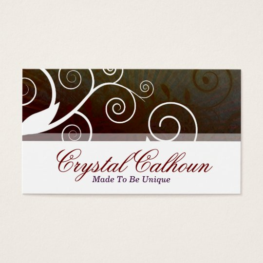 Beautiful Brown Curly Customisable Business Card