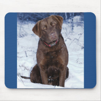 Beautiful Brown Dog Design Mouse Pad