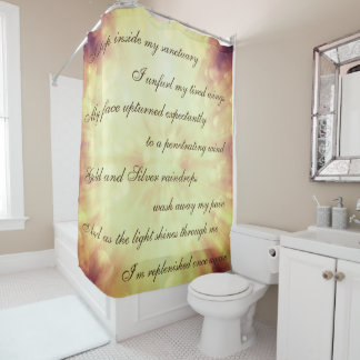 Beautiful Brown / Gold Cleansing Mantra design Shower Curtain