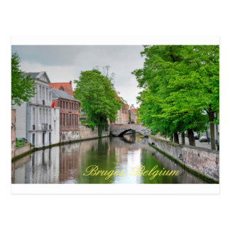 Beautiful Bruge Canal Postcard