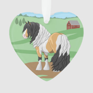 Beautiful Buckskin Pinto Gypsy Vanner Draft Horse