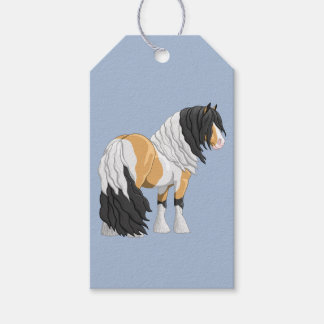 Beautiful Buckskin Pinto Gypsy Vanner Draft Horse Gift Tags