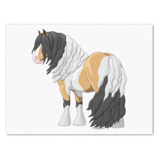Beautiful Buckskin Pinto Gypsy Vanner Draft Horse Tissue Paper