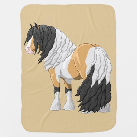 Beautiful Buckskin Pinto Gypsy Vanner Draught Baby Blanket
