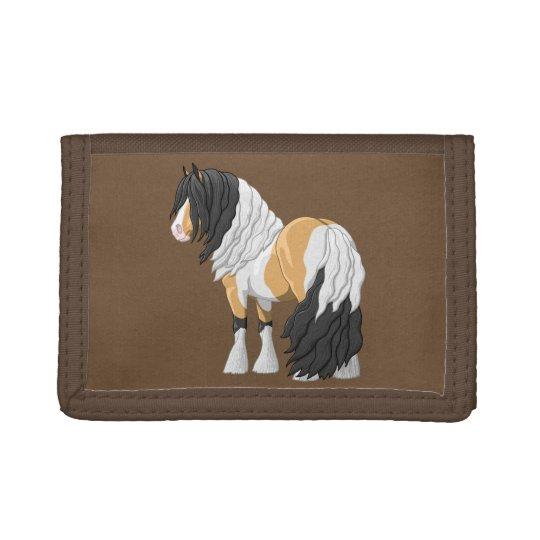 Beautiful Buckskin Pinto Gypsy Vanner Draught Trifold Wallet