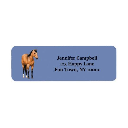 Beautiful Buckskin Quarter Horse Return Address Label
