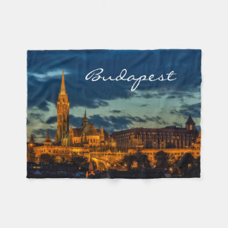 Beautiful Budapest Fleece Blanket