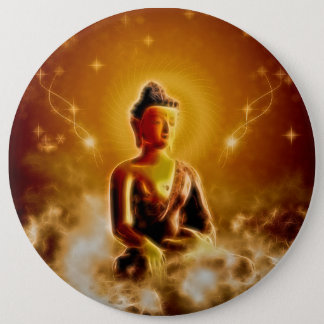 Beautiful buddha 6 cm round badge