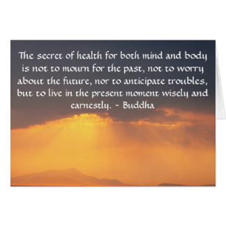 Beautiful Buddhist Quote with inspirational photo Greeting Card