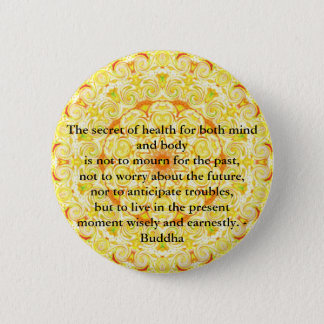 Beautiful Buddhist Quote with Vibrant Mandela 6 Cm Round Badge