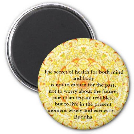 Beautiful Buddhist Quote with Vibrant Mandela Fridge Magnet