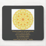Beautiful Buddhist Quote with Vibrant Mandela Mouse Mat