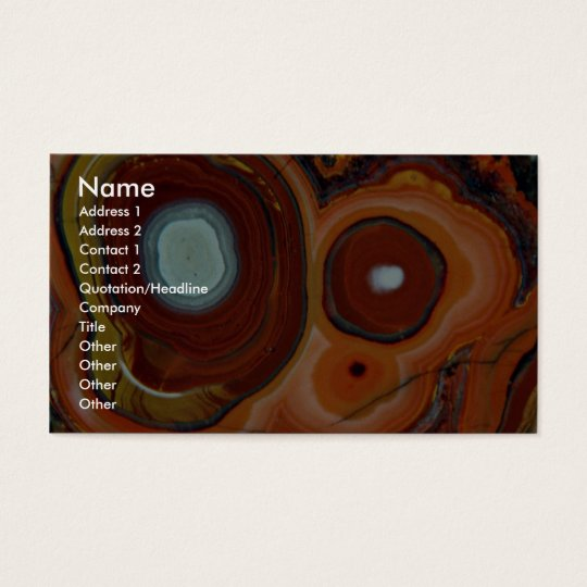 Beautiful Bull's eyes in Mexican agate Business Card