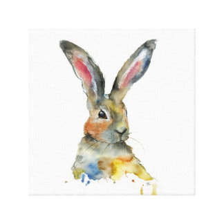 Beautiful bunny canvas print