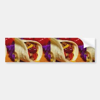 Beautiful Burrito recipe for food lovers Bumper Stickers