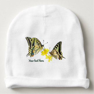 Beautiful Butterflies and Flowers Baby Beanie