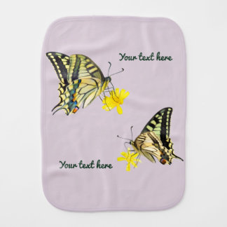 Beautiful Butterflies and Flowers Burp Cloth