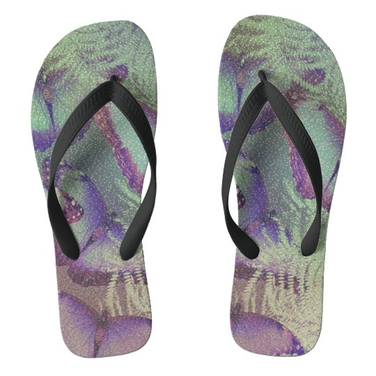 Beautiful butterflies flip flops