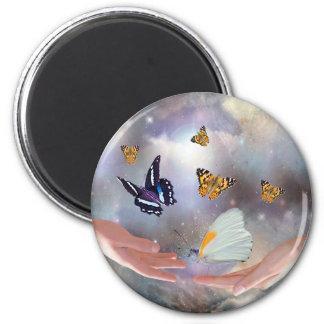 Beautiful Butterflies 6 Cm Round Magnet