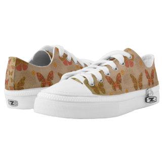 Beautiful Butterflies Zipz Low Top Shoes/ US Women Printed Shoes