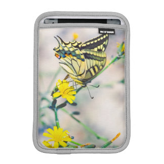 Beautiful Butterfly and Small Yellow Flowers iPad Mini Sleeve