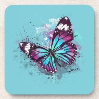 Beautiful Butterfly Illustration Coaster