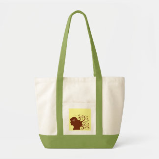 Beautiful Butterfly Lady Canvas Bag