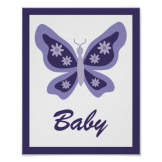Beautiful Butterfly Nursery Poster