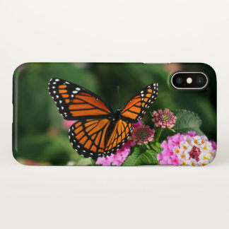 Beautiful Butterfly on Lantana Flower iPhone X Case